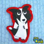 Border Collie - Felt Animal Patch