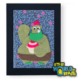 Otis the Cake Troll - Cartoon Monster - Framed Kids Decor - Little World of Beasts