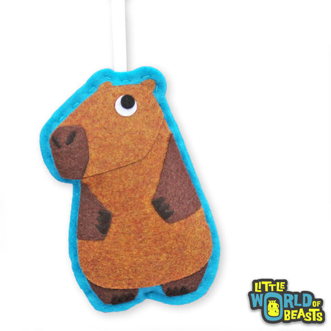 Margo the Capybara - Felt Animal Ornament - Little World of Beasts