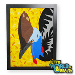 Cassowary Portrait - Felt Bird Art