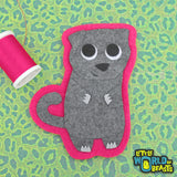 Myrtle the Scottish Fold Patch - Iron On or Sew On Applique  - Little World of Beasts