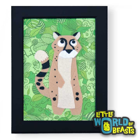 Darby the Cheetah Framed Nursery Art