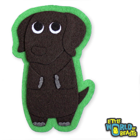 Chocolate Lab - Dog Felt Patch