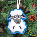 Handmade Felt Christmas Ornament - Farm Animal Sheep