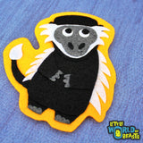 Albert the Colobus Monkey - Patch - Animal Applique