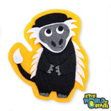 Felt Animal Applique Colobus Monkey - Little World of Beasts