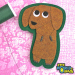 Dachshund - Felt Dog Patch - Sew On or Iron On