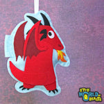 Red Dragon - Felt Christmas Ornament - Little World of Beasts