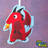 D&D Monster Ornament- RPG Player Gift - Red Dragon