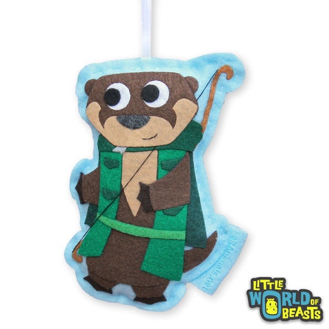 Ranger Otter - Felt D&D Animal Ornament