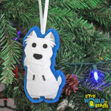 Fred the Westie - Handmade Dog Breed Christmas Ornament