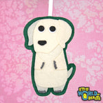 Frank the Yellow Lab - Felt Dog Christmas Ornament - Little World of Beasts