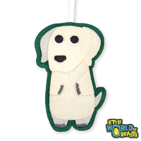 Frank the Yellow Lab Ornament