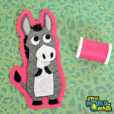 Esperanza the Donkey - Farm Animal Patch - Sew On or Iron On -  Little World of Beasts