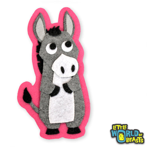 Felt Farm Animal Christmas Ornament - Donkey - Little World of Beasts