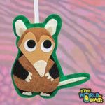 Customizable Handmade Felt Christmas Ornament - Elephant Shrew