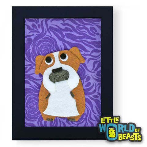 Bartholomew The English Bulldog - Framed Dog Art - Little World of Beasts