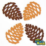 Pinecone - Laser Cut Felt Shape for Crafting and Garlands