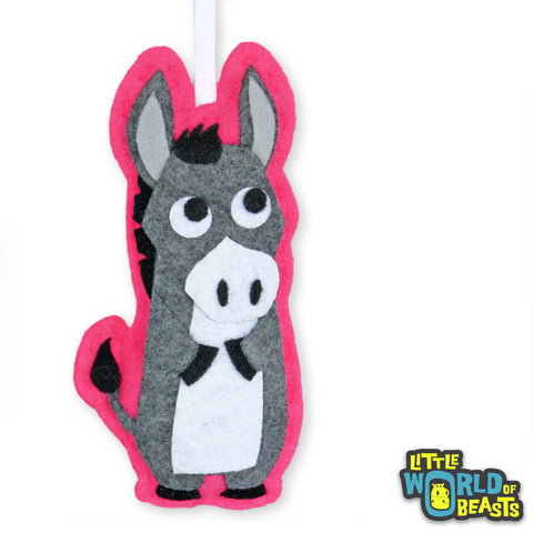 Personalizable Felt Christmas Ornament - Donkey