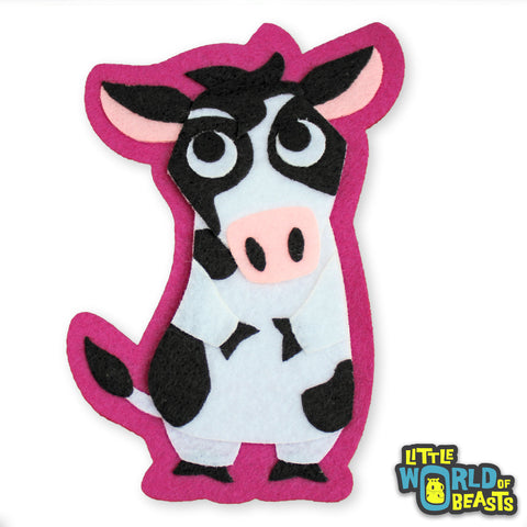 Fiona the Cow Patch - Farm Animal Applique - Little World of Beasts