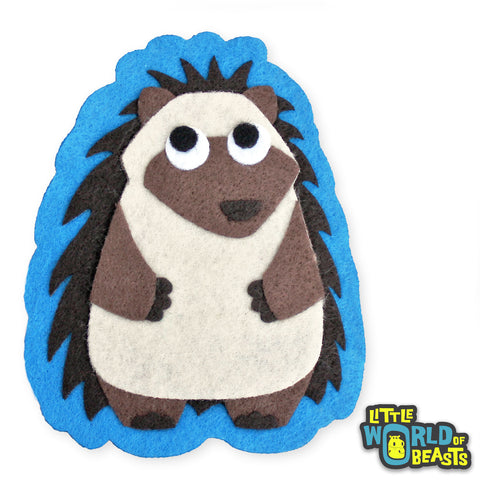 Mortimer the Hedgehog - Felt Woodland Animal Patch - Little World of Beasts
