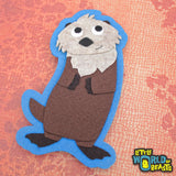 Felt Animal Applique - Sea Otter