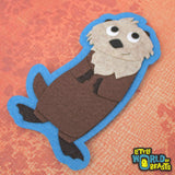 Dmitri the Sea Otter Patch - Iron On or Sew On - Little World of Beasts