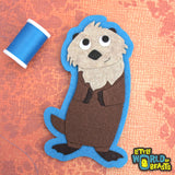 Handmade Felt Patch - Sea Otter
