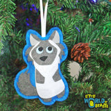 Handmade Felt Christmas Ornament - Cat - Himalayan