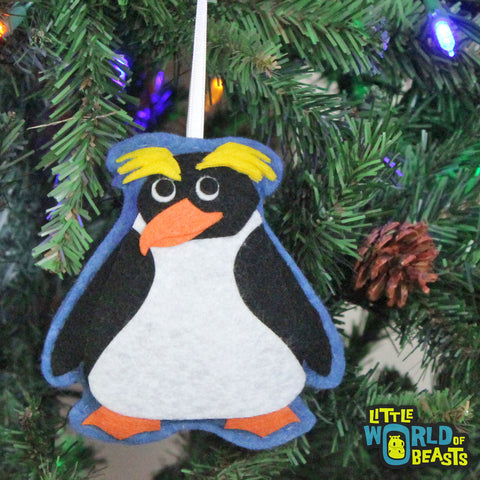 Felt Animal Christmas Ornament - Penguin