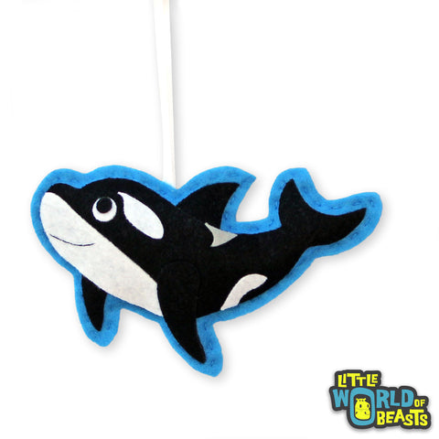 Customizable Handmade Christmas Ornament - Orca - Killer Whale