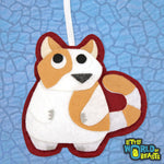 Customizable - Felt Animal Ornament - Fat Cat