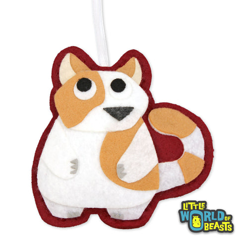 Customizable - Felt Christmas Ornament - Fat Cat