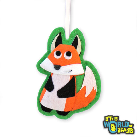 Simon the Fox - Woodland Felt Animal Ornament - Little World of Beasts