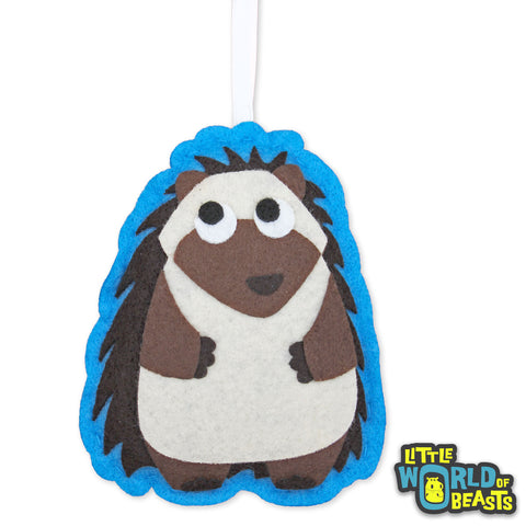 Personalizable Felt Ornament - Hedgehog