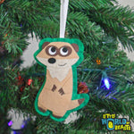Meerkat - Felt Animal - Handmade Christmas Ornament