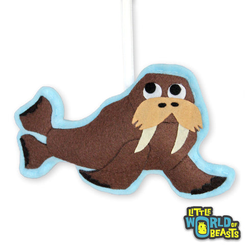 Personalizable Animal Christmas Ornament -Walrus