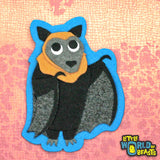 Handmade Felt Animal Patch - Flying Fox