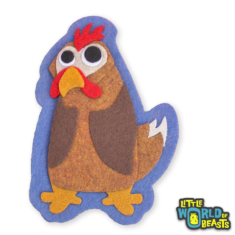 Josephine the Chicken - Felt Animal Applique Patch