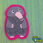Felt Animal Patch - Sew On or Iron on - Common Mole