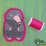 Felt Patch - Sew On or Iron on - Common Mole
