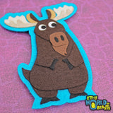 Moose -Sew on or Iron on Felt Patch