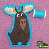Sew On/ Iron On patch - Moose