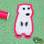 Felt Animal Patch - Polar Bear