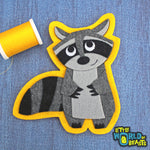 Matilda the Raccoon Patch - Iron On or Sew On Felt Applique - Little World of Beasts