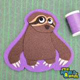 Gracie the Sloth - Felt Animal Sew On or Iron On Patch