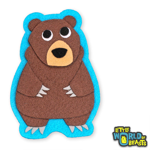 Felt Bear - Sew on or Iron on Patch