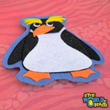 Penguin - Felt Patch - Iron on or Sew On
