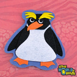 Felt Animal Patch - Macaroni Penguin