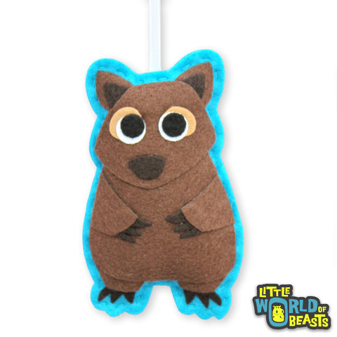 Felt Christmas Ornament- Wombat - Personalizable